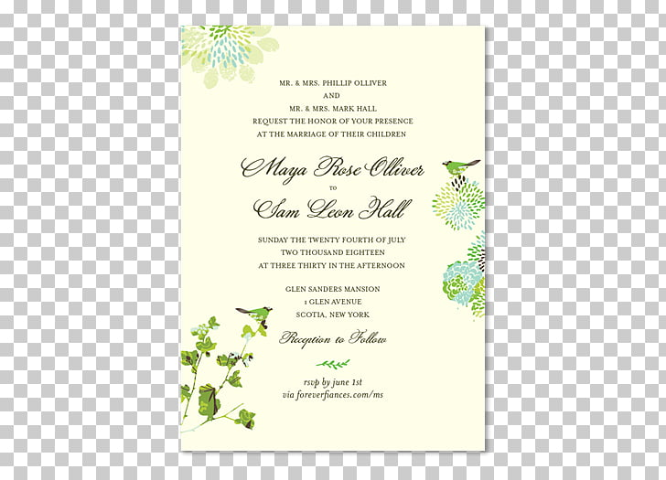 Wedding invitation Paper Green wedding Rehearsal dinner.