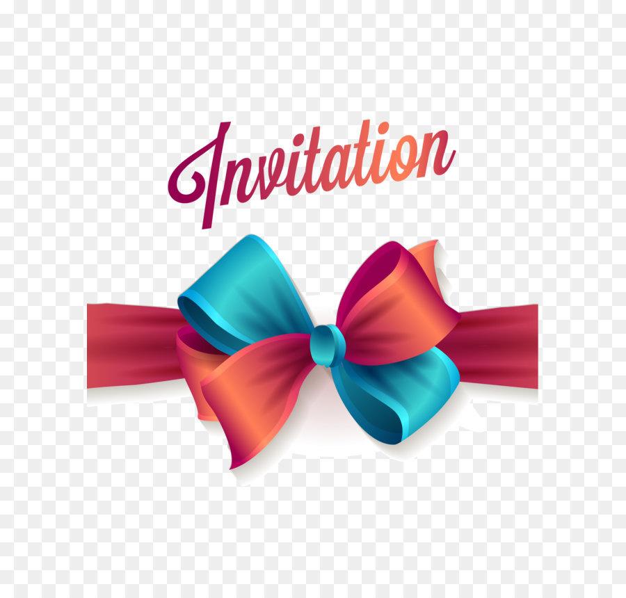 Invitation Card Ribbon png download.