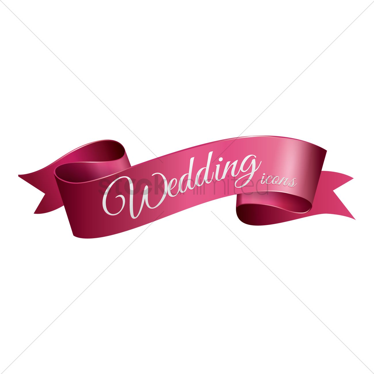 Wedding ribbon Vector Image.
