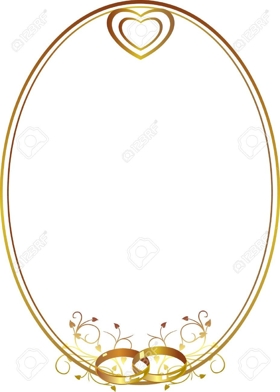 Wedding ring border clipart 7 » Clipart Station.