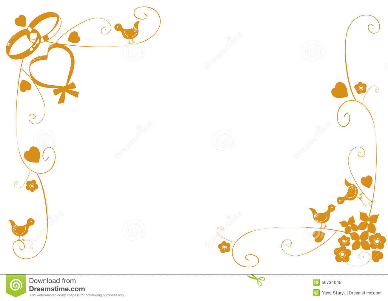 Wedding ring border clipart 3 » Clipart Station.