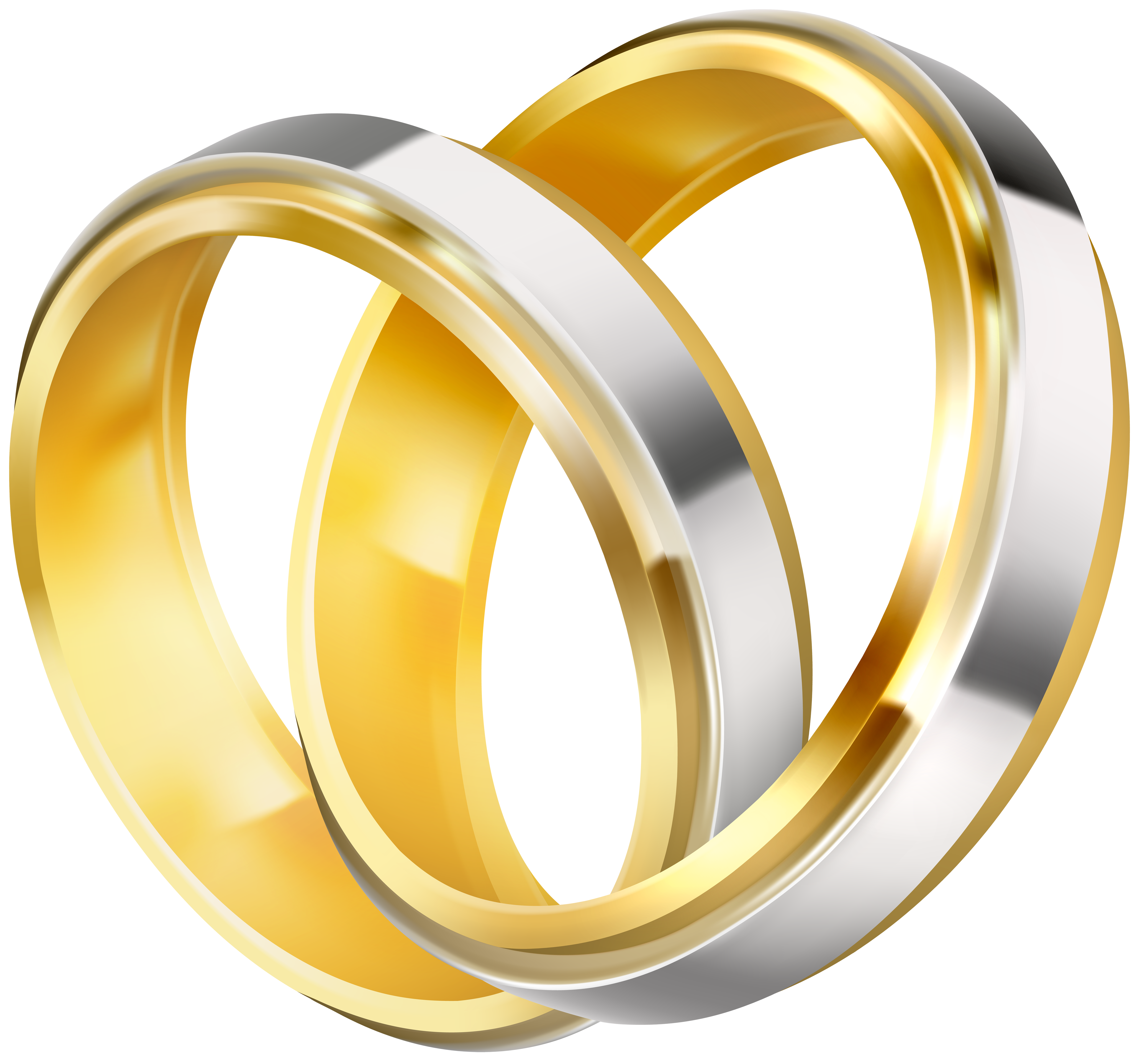 Wedding Rings Clipart Image.