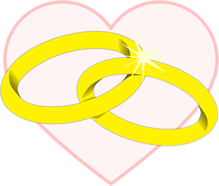 Heart with Wedding Ring Clipart Png #45287.