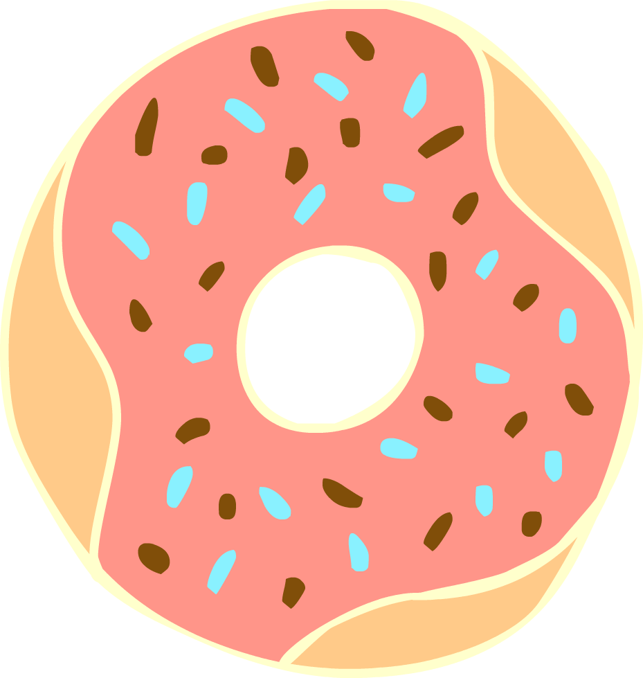 Donut Clipart Background.