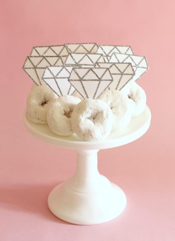 DIY Donut Diamond Rings.