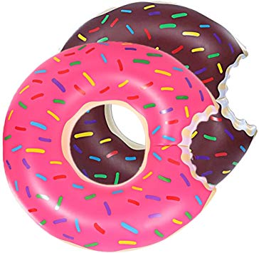 DMAR 1pcs 90cm Pool Floats for Adults Kids Inflatable Float Pool Donut Swim  Rings Floats Strawberry Single.