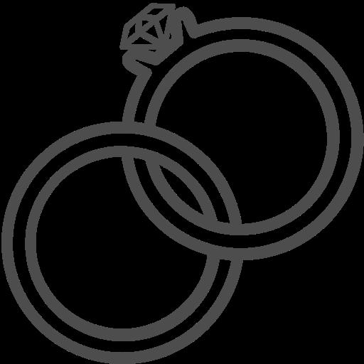 wedding ring icon.