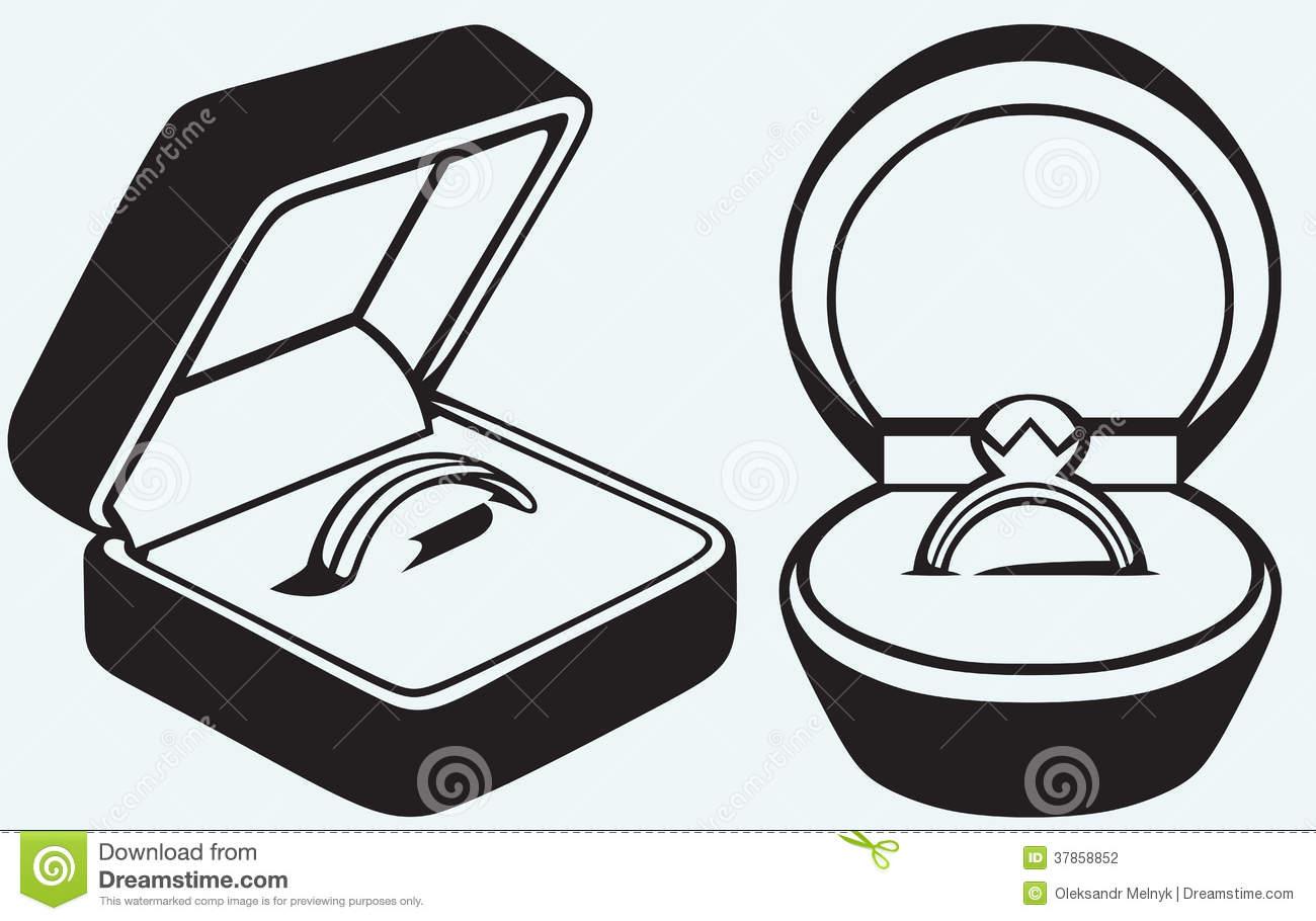 Wedding Ring Box Clipart.