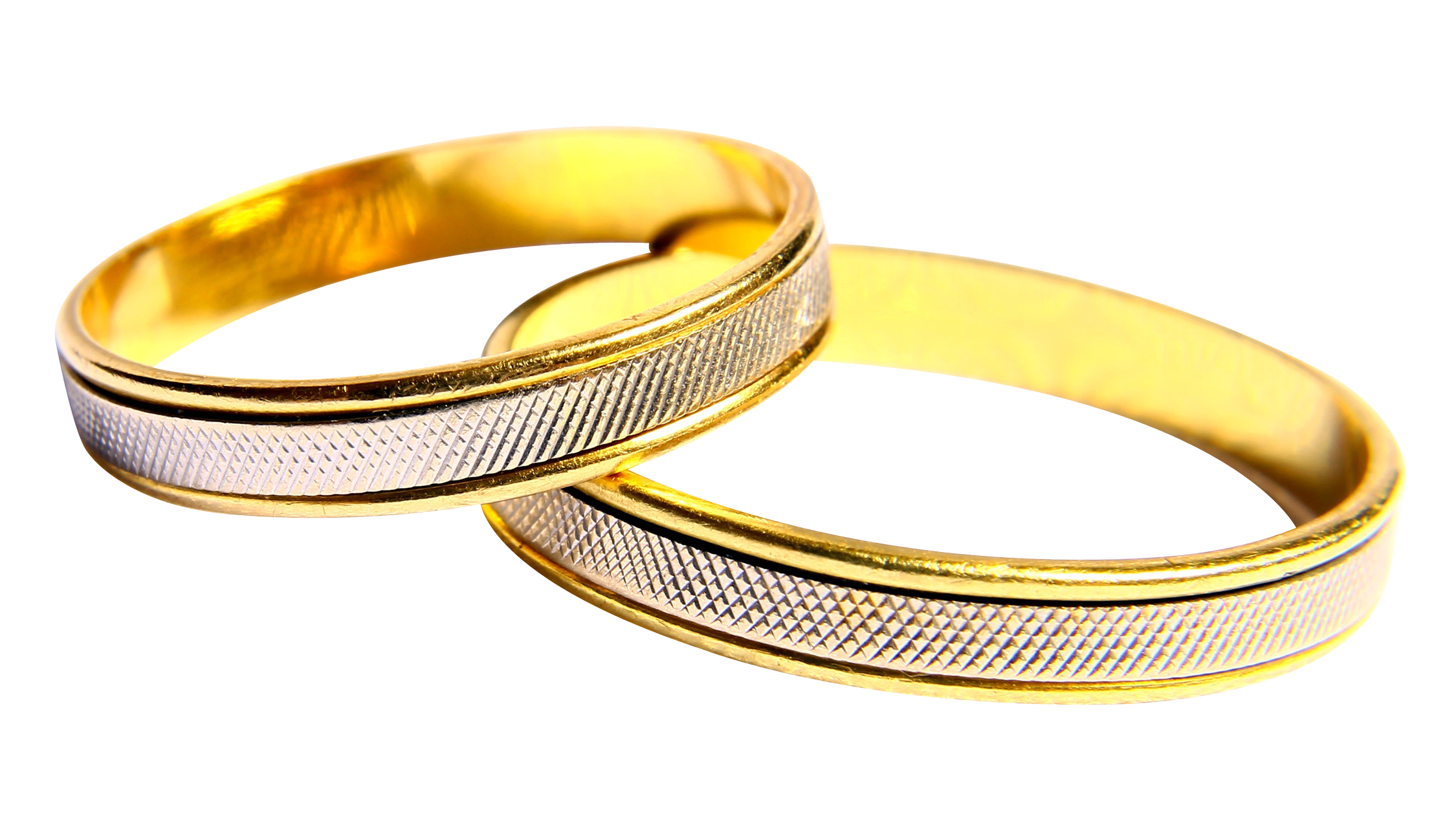 Wedding Rings PNG Image.