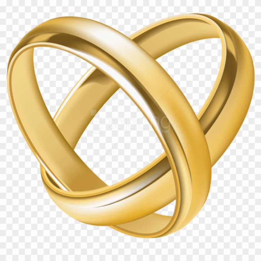 Free Png Download Wedding Rings Heart Transparent Clipart.