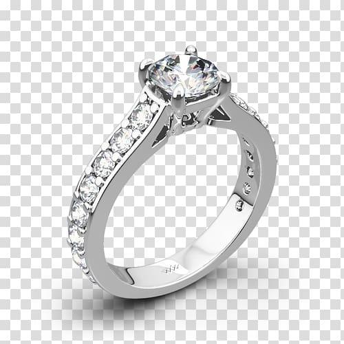 Engagement ring Wedding ring Princess cut Diamond Solitaire.
