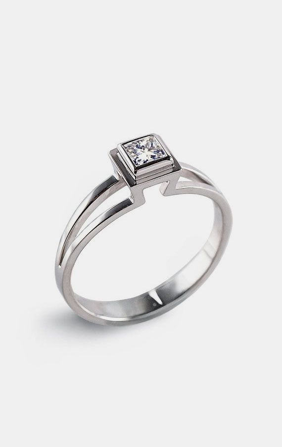 PRINCESS Engagement Ring Solitaire Diamond in 2019.