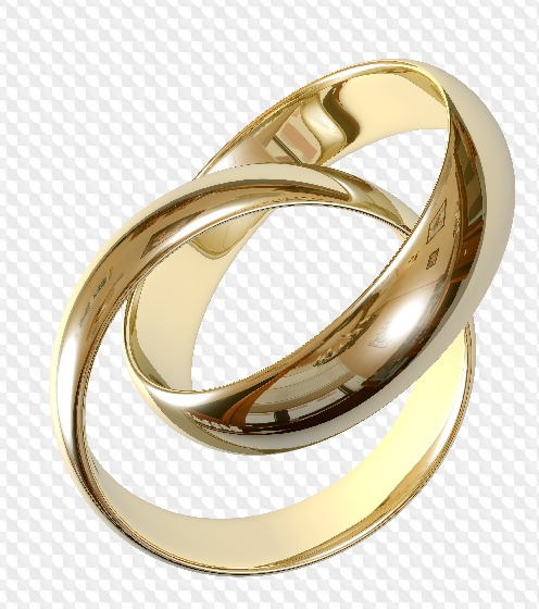 50 PNG, Wedding Rings on transparent background.
