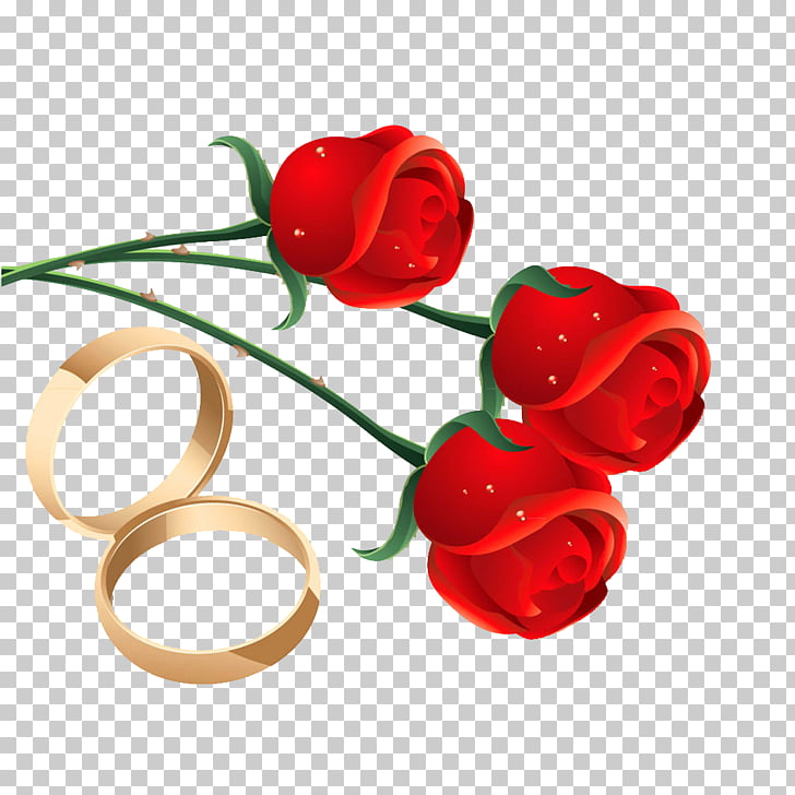 Wedding Ring, Rose engagement ring material PNG clipart.