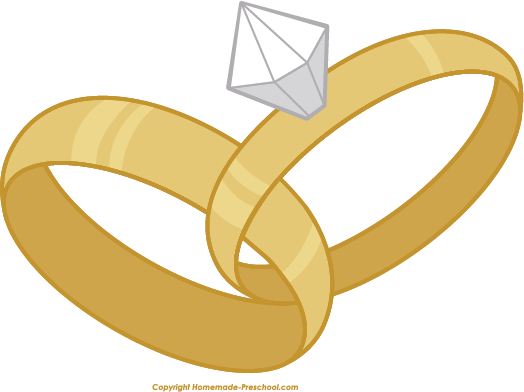 Free Wedding Rings Clipart.