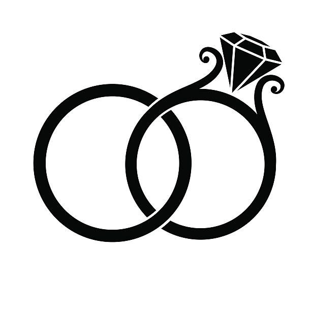 1290 Wedding Rings free clipart.