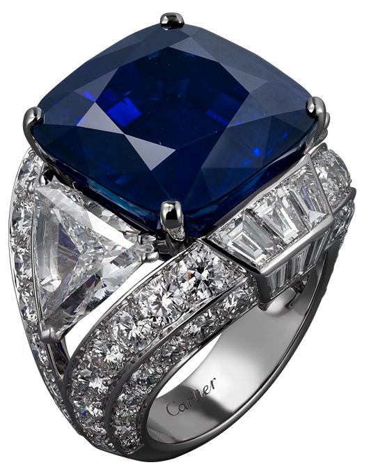 Blue Diamond Ring PNG Clipart.