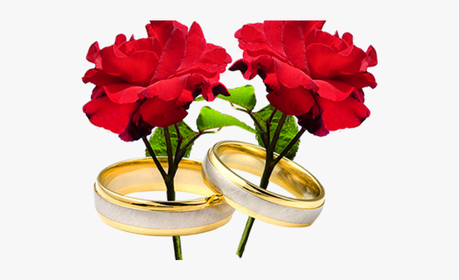Wedding Ring Flowers Png, Cliparts & Cartoons.