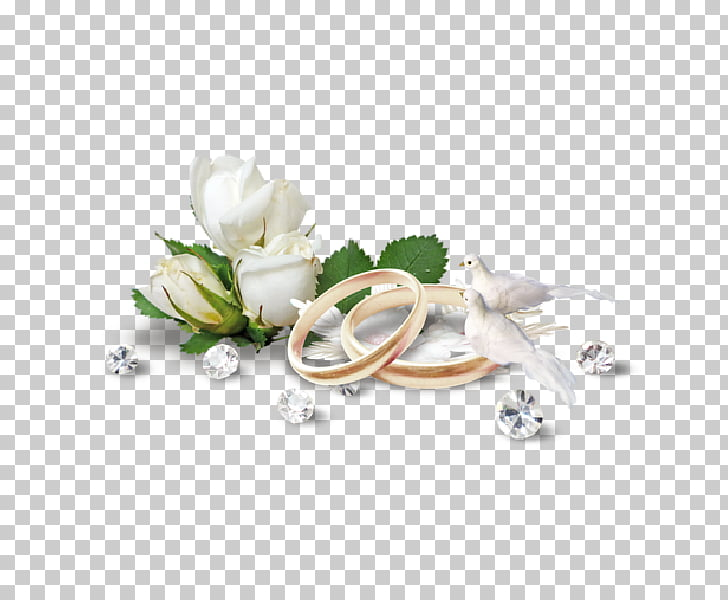 Wedding ring Bride , white flowers PNG clipart.