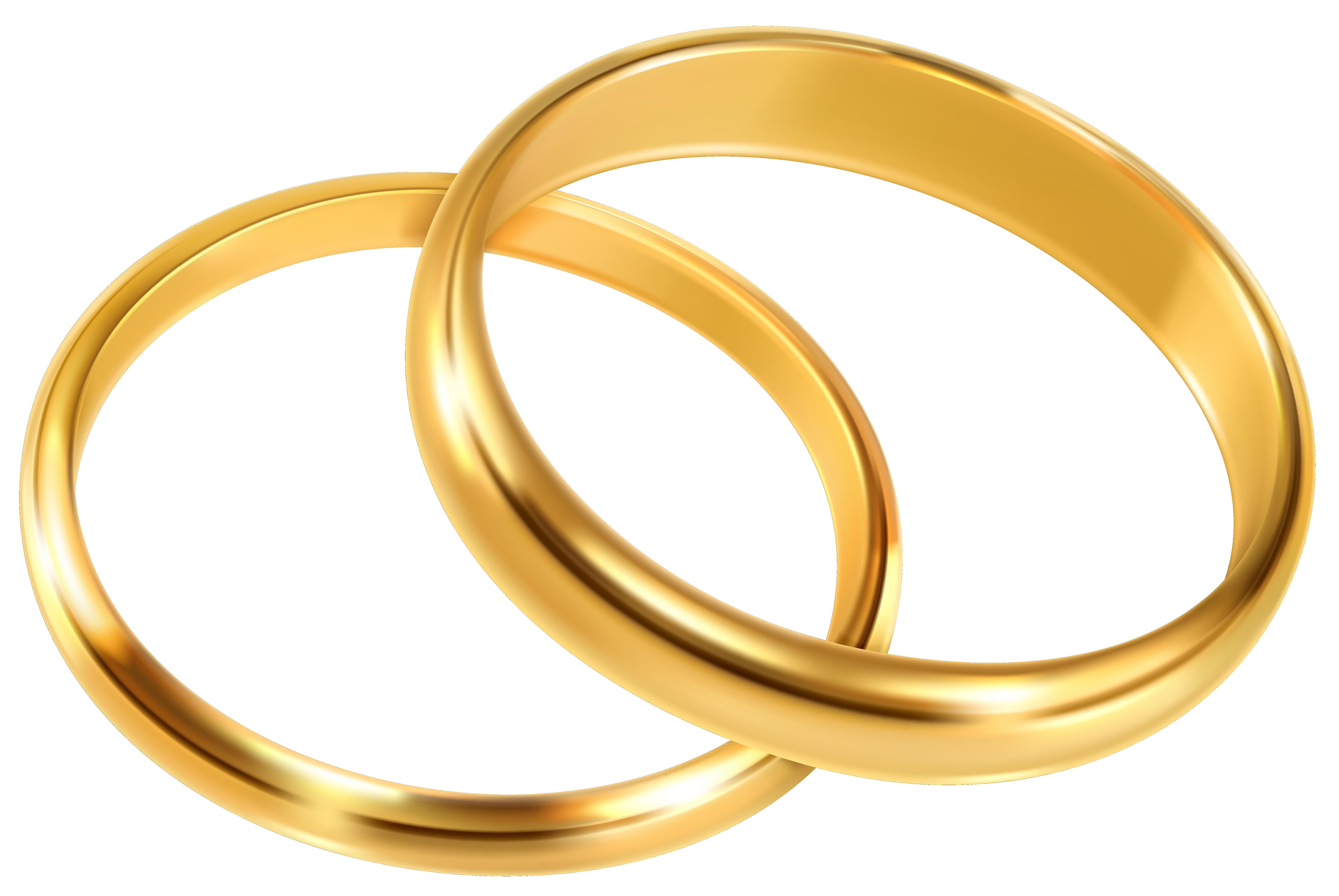 Wedding Rings PNG Clip Art Image.