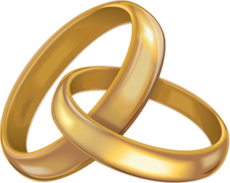 34 Awesome gold wedding ring clipart.