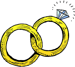 Two Wedding Rings Clipart.