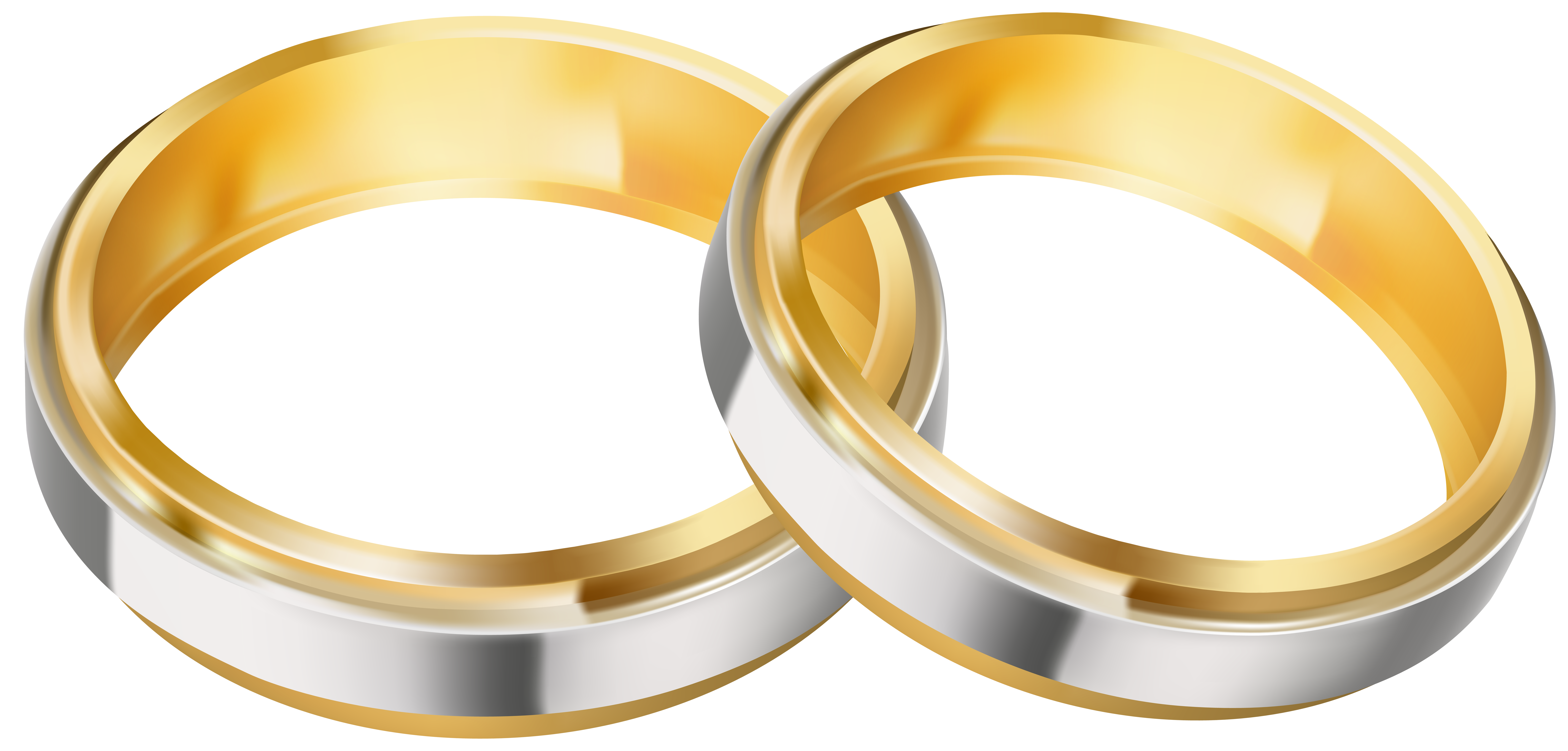 Two Wedding Rings Clipart Image.