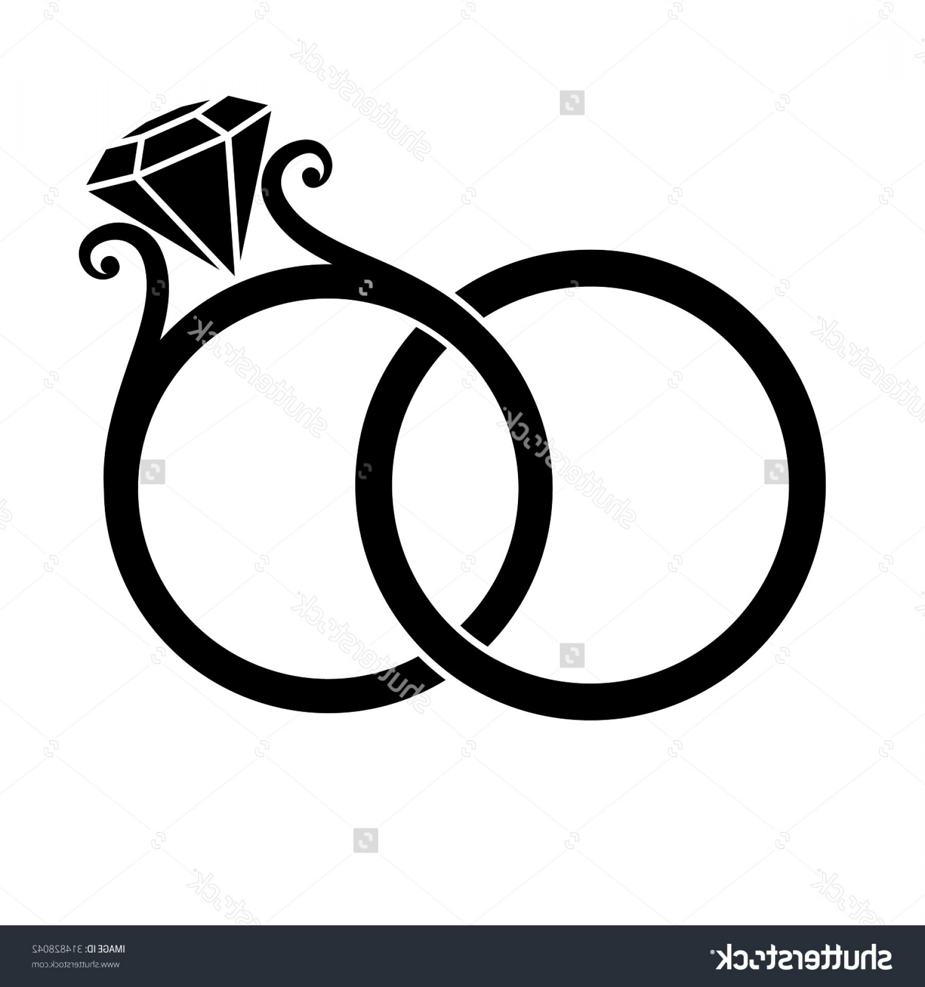 1285 Wedding Ring free clipart.