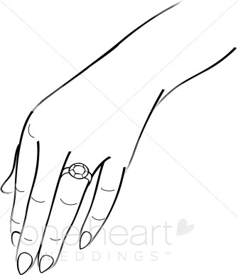 Wedding Ring Hands Clipart.