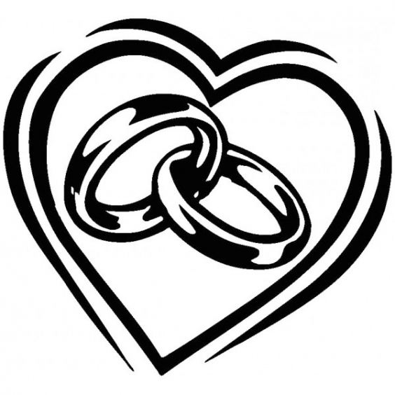 1285 Wedding Rings free clipart.