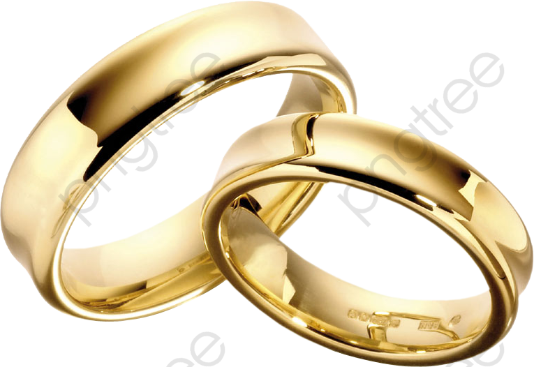 Wedding Ring, Wedding Clipart, Simple, Modern PNG Transparent Image.