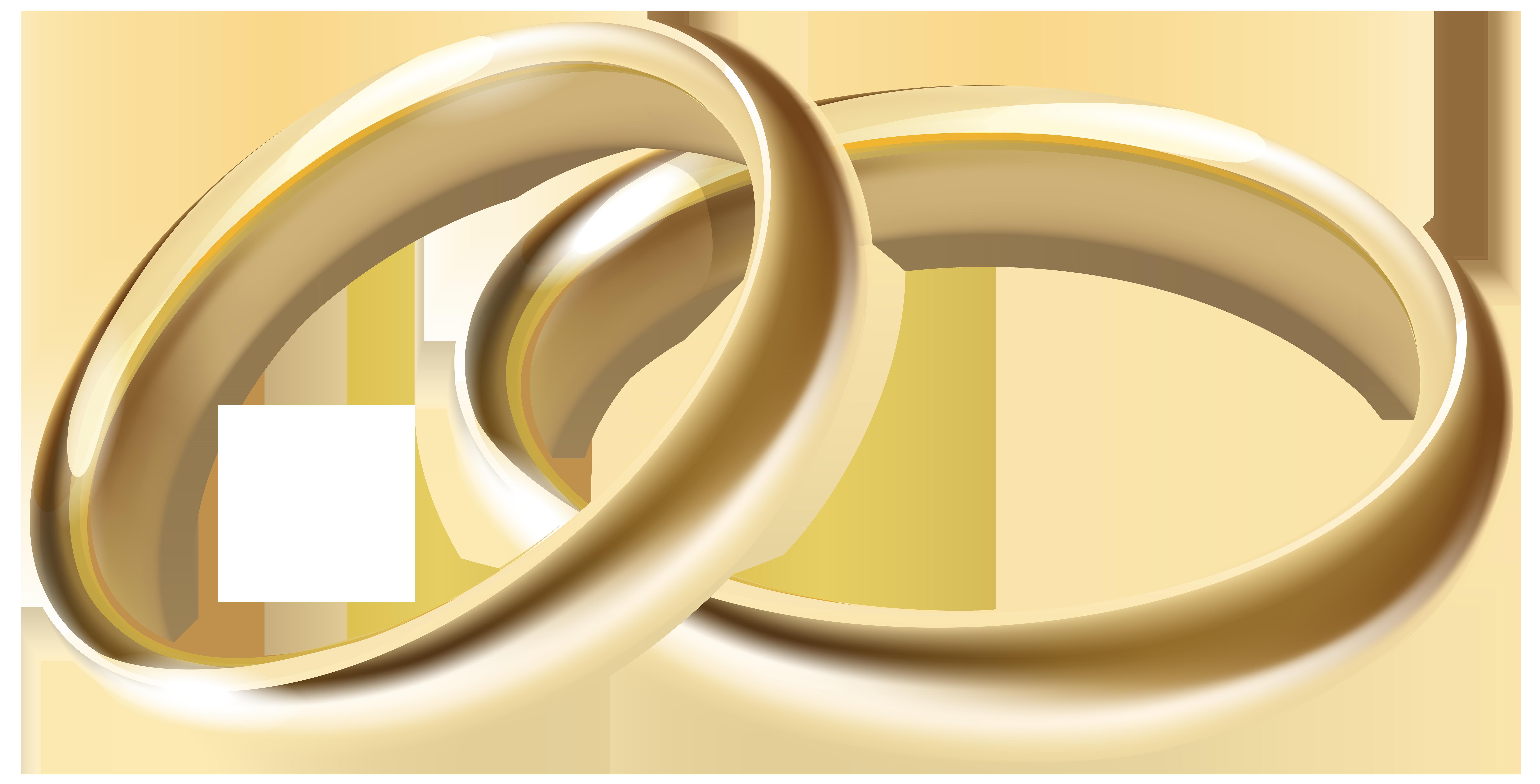 Wedding Rings Transparent PNG Clip Art Image.