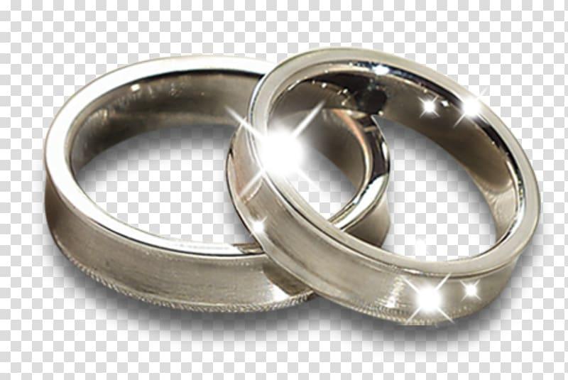 Two silver wedding rings, Wedding ring, Ring transparent background.