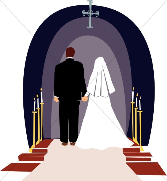 37908 Wedding free clipart.