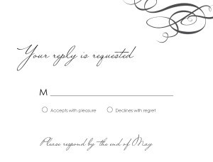 Wedding rsvp clipart 2 » Clipart Portal.