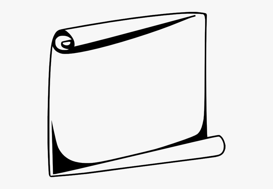 Black White Scroll Clip Art.