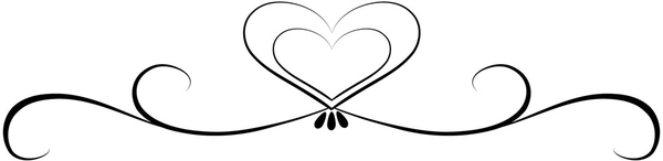 Heart Scroll Black and White Logo.