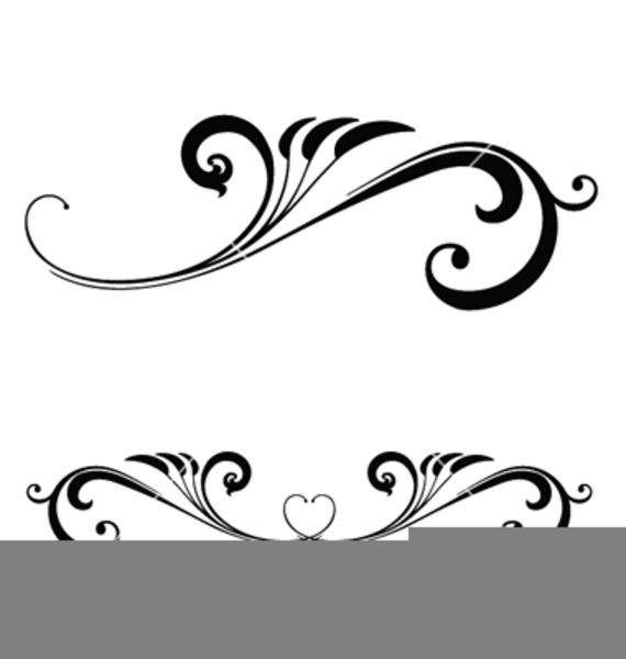 Wedding Scroll Work Clipart.