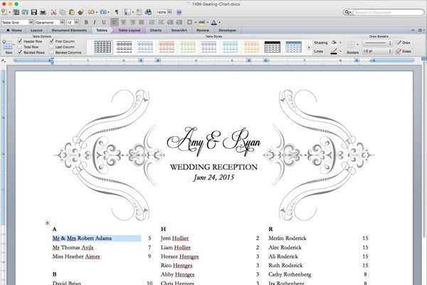 wedding seat arrangement template.