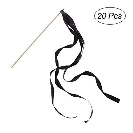 20Pcs Ribbon Sticks Fairy Sticks Ribbon Streamers Wands.