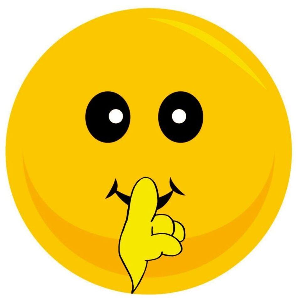 Shh Smiley Face Clip Art N5 free image.