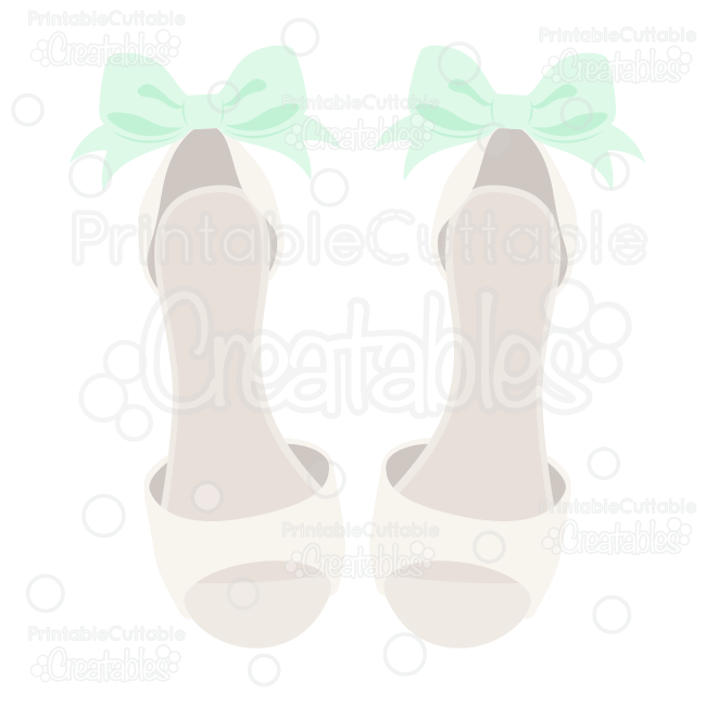 Dressy Wedding Shoes SVG Cut File for Silhouette Cameo, Cricut.