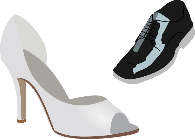 Free Clipart: Wedding shoes.