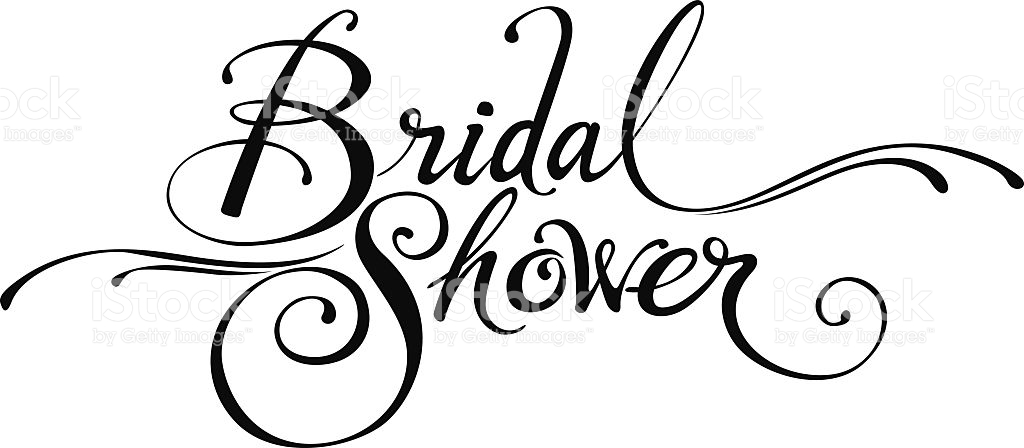 Bridal shower clipart luxurious and splendid.