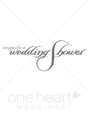 Wedding Shower Invitation Clipart.