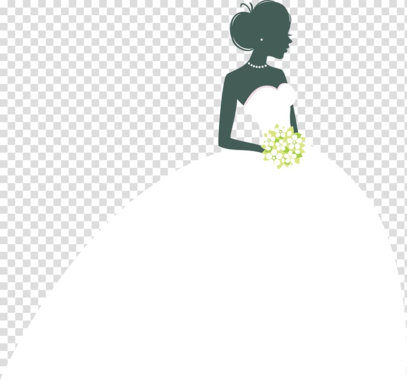 Woman in bridal gown illustration, Wedding invitation Bride.
