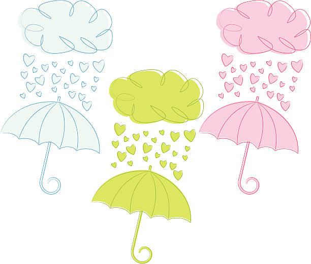 Bridal Shower Umbrella Illustrations, Royalty.