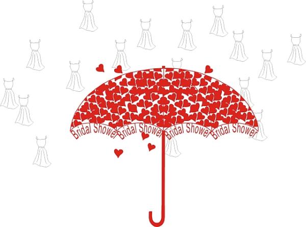 Wedding Shower Clipart Bridal Umbrella.