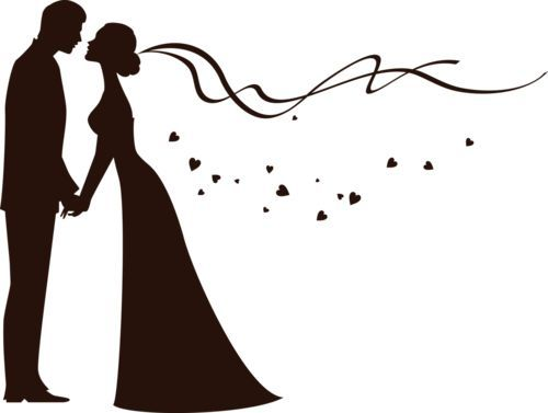 Ingenious Bride And Groom Silhouette Free Clip Art Clipart Wedding.