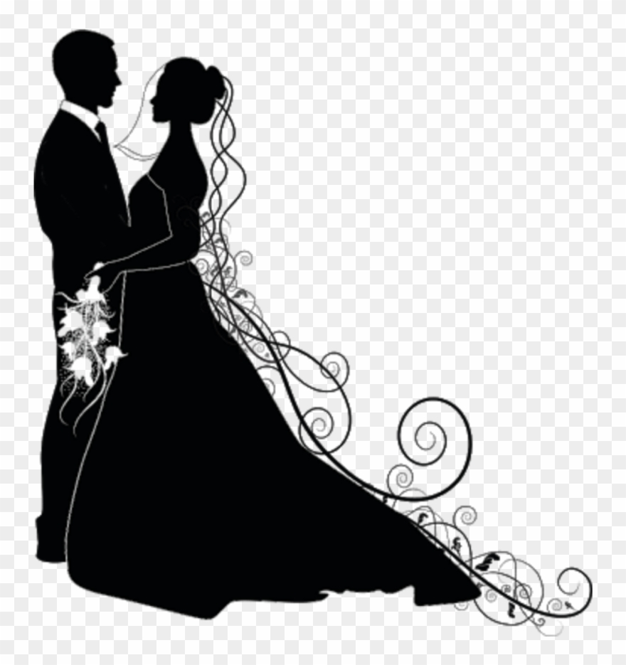 Love Liebe Hochzeit Wedding Silhouette Brautpaar Schwar.